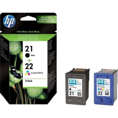 Картридж струйный HP 21 черный/цветной